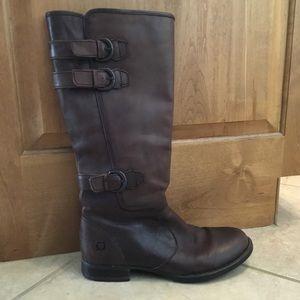 Born Attila brown leather combat boot